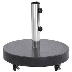 Sonnenschirmständer Schirmständer  Granit 30 kg Rund Schwarz