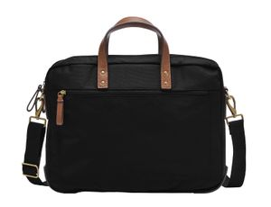 FOSSIL Haskell Double Zip Workbag Black