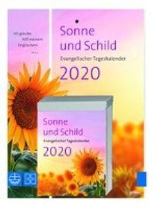 Sonne und Schild 2020 - Abreißkalender mit Rückwand
