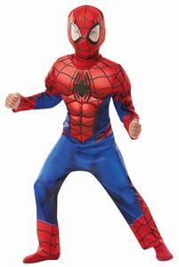 Rub - Marvel Deluxe Kinder Kostüm Spiderman Karneval Gr.M 5 bis 6 J.