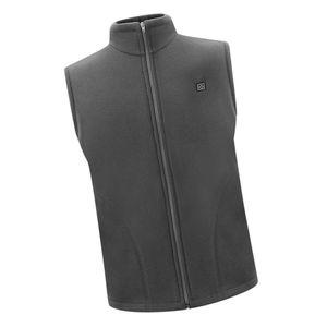 USB Heizweste Fleece Lightweight Charging Heizweste Grau XXXL Regulär Weste Solide Beheizte Jacke