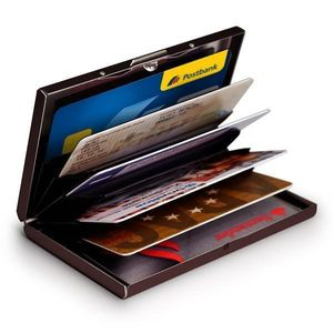 Aluminium Kartenetui Geldbörse Portemonnaie Kartenbörse RFID Schwarz