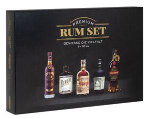 Premium Rum Tasting Set 5 x 0,05 l | Ron Centenario Solera 20 Fundación, Remedy Spiced Rum, Don Papa Rum 7 Jahre, Botucal Reserva Exclusiva & Ron Prohibido Gran Reserva Solera 15