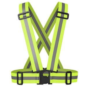 AVANA Warnweste reflektierende Sicherheitsweste Fahrrad Weste Mottorad Reiten Joggen Laufen Reflektorweste - Neon Gelb