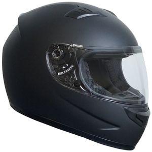 Integralhelm 508 Motorradhelm Helm Größe M Rollerhelm Sturzhelm matt schwarz Visier klar
