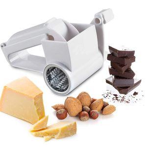 ZQYRLAR Xelparuc Handdrehkäsereibe, Käseschneider mit scharfen Edelstahlklingen Trommel Easy Clean, Parmesan-Reibe, Shredder Multifunction kann Schokolade, Karotte, Weiß schneiden