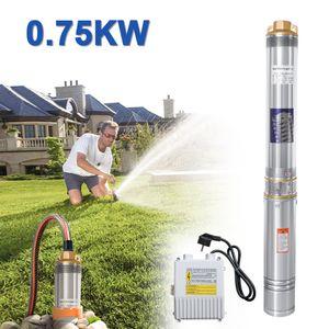 Hengda 0.75kW/1hp Tiefbrunnenpumpe bis 4.000 l/h F?rdermenge Automatic Brunnenpumpe Sandvertr?glich Tauchdruckpumpe 6.7 bar max