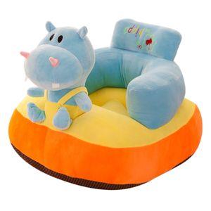 Kindersofa Stuhl Kinder Plüsch Cartoon Tier Couch Sitz Schonbezug Hippo 河马 Nilpferd 50x40x46cm
