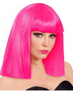 Showgirl Perücke Roxy Pink als Kostümzubehör für Halloween und Fasching
