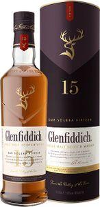 Glenfiddich 15 Jahre Our Solera Fifteen Single Malt Scotsch Whisky in Geschenkpackung | 40 % vol | 0,7 l