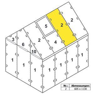 Zelsius Hohlkammerstegplatte 4 mm | 113 x 60,5 cm | Gewächshaus Ersatzplatte #2