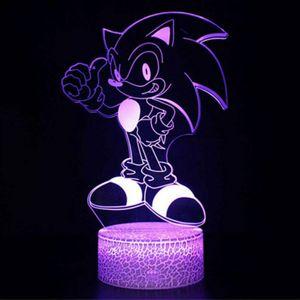 3D Tischlampe Sonic the hedgehog USB LED Nachtlicht Leselampe Lampe 7 verschiedene Farben (einstellbar) kinder Geschenk