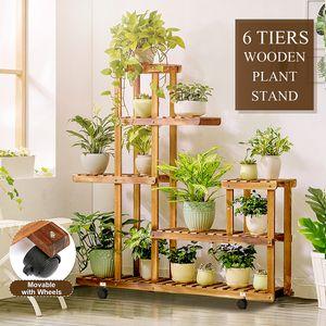 Blumentreppe Blumenregal Pflanzentreppe aus Holz Blumenbank Blumenständer 5 Böde