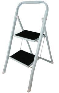Trittleiter bis 150 kg 2 Stufen Anti Rutsch Leiter Haushaltsleiter Klapptritt