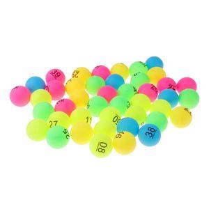50 Stück sortiert Farbe pp Material Tischtennis Bälle 40mm Nummer 1 - 50