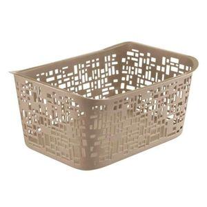 Rotho Urban Kunstoff Plastikkorb / Aufbewahrungsbox 10 L, 37 cm x 26.8 cm x 17.5 cm, Cappuccino, EF250251
