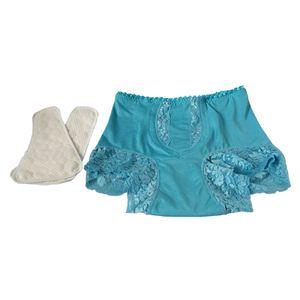 Inkontinenz Unterwäsche für Frauen Schwangerschaft Waschbares Höschen mit Super XL Blau Slip Menstruationsunterwäsche