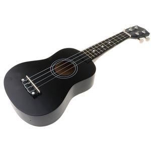 """21 \""""Basswood Hawaii Ukulele Mini 4 Saiten Gitarre für Kinder Anfänger Geschenk Farbe Schwarz"""