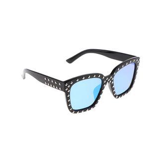 1 Paar Vintage UV-Beweis polarisierte Sonnenbrillen für Jungen Mädchen Geschenk schwarz blau Farbe Schwarz Blau