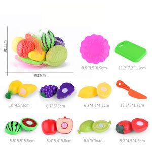 10PC Kinder tun Rollenspiel Küche Obst Gemüse Gemüse Spielzeug Schneiden Geschenk DYY71207861C