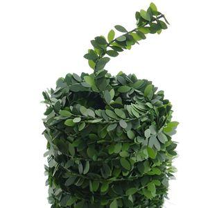 Buchsbaum Blätter Girlande Grün 7,5 Meter - Kunststoff