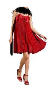 APART Chiffon-Satin-Plisseekleid, rot Schnäppchen Größe: 32