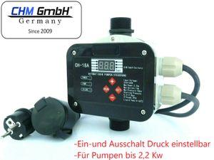 CHM GmbH® Digitale vollautomatische Pumpensteuerung bis 2,2 kW elektro. Sensor