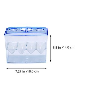 1PC Small Fish Hatching Isolation Box Freistehende selbstschwimmende Zuchtbox