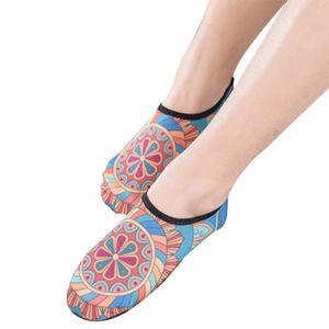 Yoga-Socken Printed Ultra Anti-Rutsch-Anti-Schweiß für Ballett-Tanz-Sport-Socken -(Ö,XL)