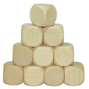 Blanko Holzwürfel 30mm, 10 Stück - Gebetswürfel Blanko-Würfel Holz unbedruckt