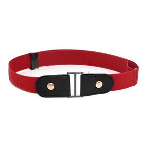 1 Stück schnallenfreier elastischer Gürtel Farbe rot