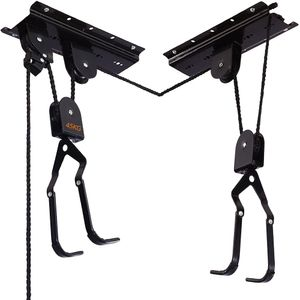 Fahrrad Deckenlift Traglast Fahrrad Bike Lift Schwarz Fahrradlift Universal mit Haken und Seilbremse für Fahrrad und E-Bikes geeignet…