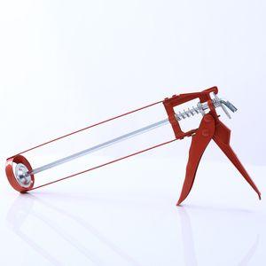 Dowofuu Super Power Kittpistole Klebepistole 9-Zoll-Sechskantgriffrahmen-Klebepistole Universelle manuelle Klebepistole Dichtungskleber ohne Nagelklebepistole, rot