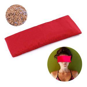 Yoga Augenkissen Dunkler Kreis Seidiges Augenkissen Lavendel + Leinsamen Gefuellt Perfekt fuer Yoga Natuerliche Schlafmittel Angst Linderung Meditation
