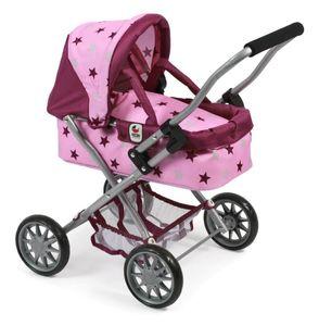 Sieglinde Bayer Puppenwagen Smarty pink Sterne, 56cm