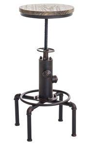 CLP Barhocker Lumos, Holz höhenverstellbar und 360 Grad drehbar, Farbe:bronze
