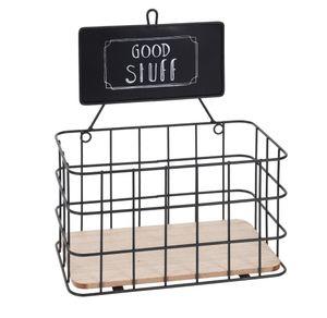 Hängekorb Good Stuff - Aufbewahrungskorb Metall / Holz
