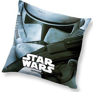 Star Wars kissen Stormtrooper junior 40 x 40 cm Polyester grau