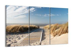 "Leinwandbild - 165x110 cm - ""Hinter der Düne, im Rascheln des Grases""- Wandbilder - Meer Strand Düne - Arttor - CE165x110-2657"