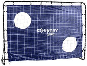 COUNTRYSIDE® Fußballtor mit Torwand Rahmen aus Stahlrohr 213*152*76 7 Heringe