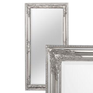 Spiegel BESSA barock silber-antik 100x50cm