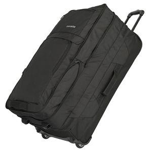 Travelite Basics XXL Doppeldeckertrolley Reisetasche mit Rollen 127l 3,2kg , Farbe:Black