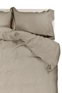 Passion for Linen | Luxus Bettbezug Remy | Leinen und Perkal Baumwolle, Größe:140-220 cm, Farbe:Taupe