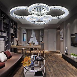 Wolketon Kristall Deckenlampe Wohnzimmer Kueche LED Deckenleuchte 96W Leuchtmittel
