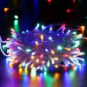10M 100 LED Lichterkette Bunt 8 Lichtmodi Party Garten Innen Außen Deko Weihnachtsbeleuchtung
