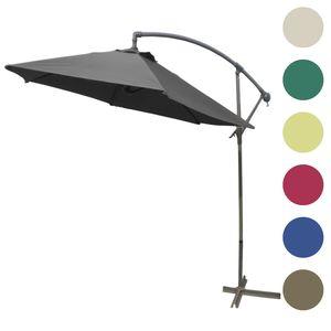 Ampelschirm Ø 3m mit Kurbel in verschiedenen Farben, Farben:Beige