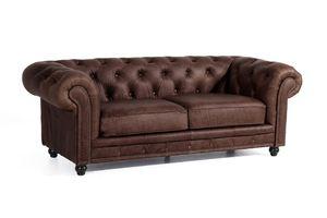 Max Winzer Orleans Sofa 2,5-Sitzer - Farbe: braun - Maße: 216 cm x 100 cm x 77 cm; 2911-3000-9370001-F07