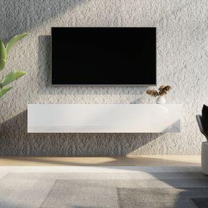 TV Lowboard Hängend stehend Wand Hängeboard Wohnzimmer Wandschrank Fernsehstand Schrank 160cm Möbel Speicherung mit Hochglanz & Holz