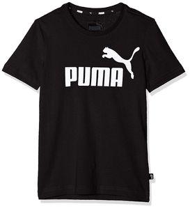 PUMA ESS Logo B Kinder T-Shirt Baumwolle Schwarz, Größe:152