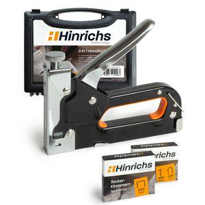 Hinrichs Handtacker im Koffer mit Klammern und Nägeln